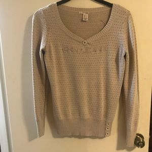 Cream and gold DKNY sweater